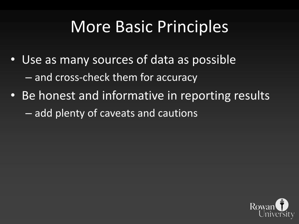 More Basic Principles