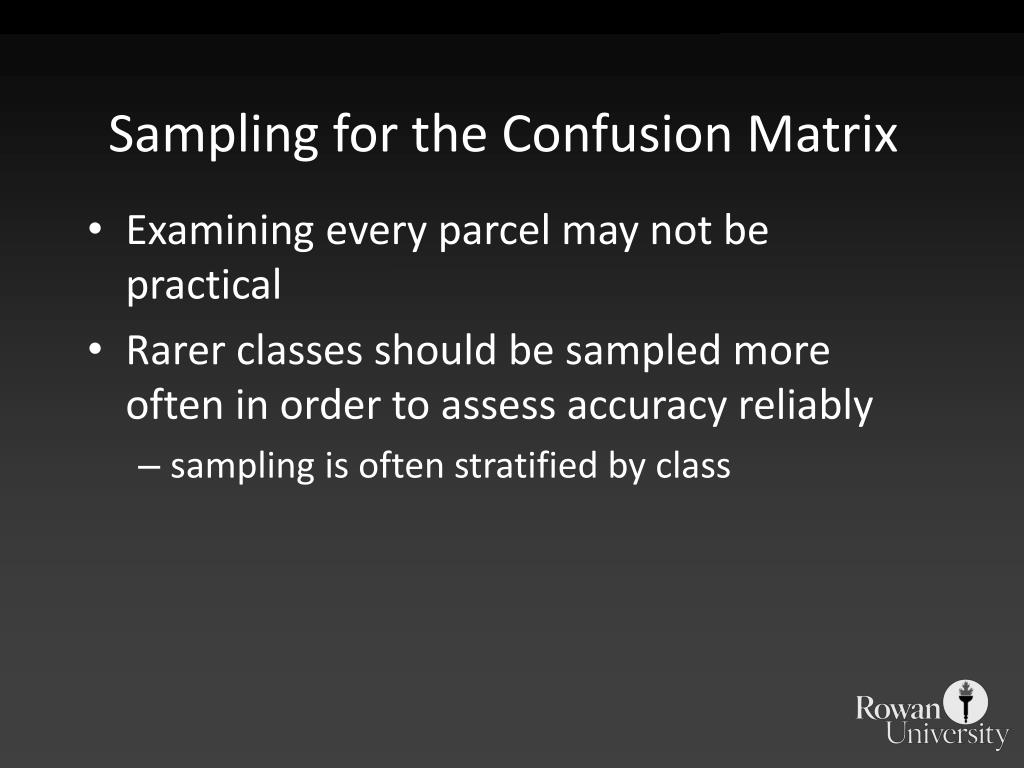 Sampling for the Confusion Matrix