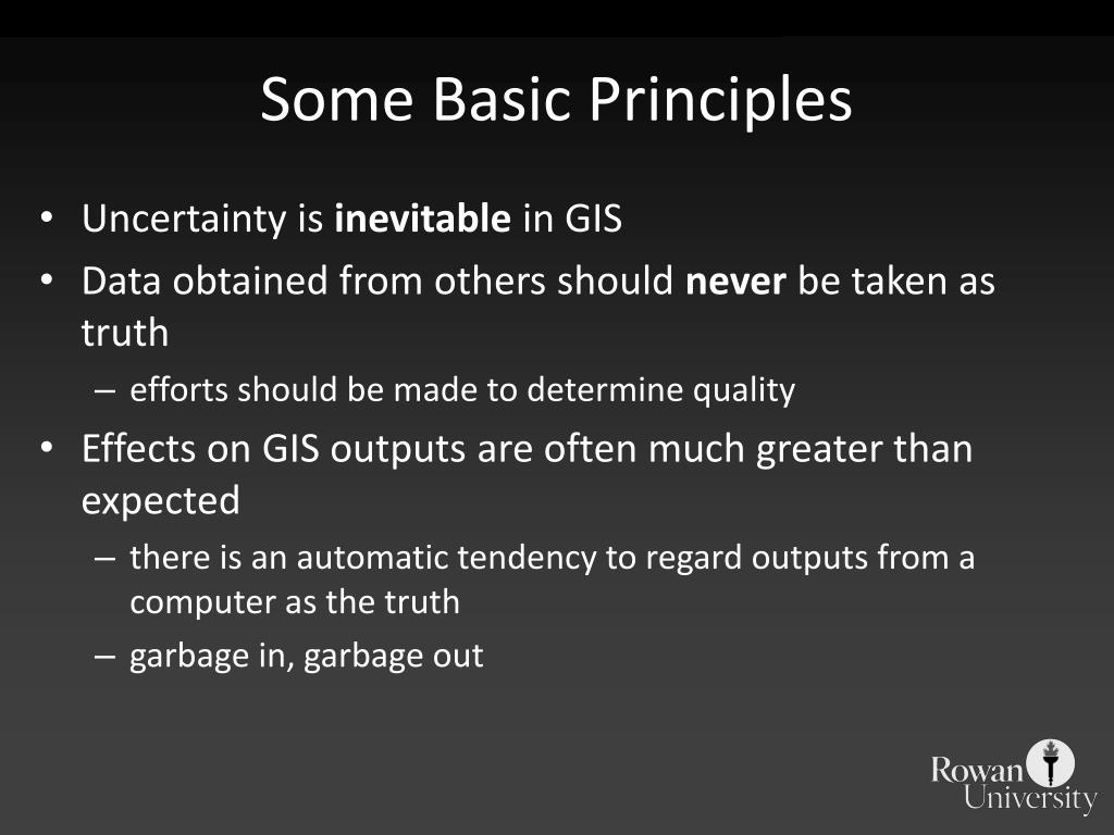 Some Basic Principles