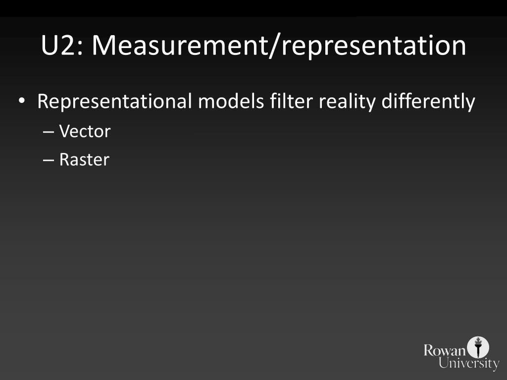 U2: Measurement/representation