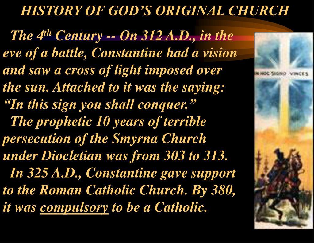HISTORY OF GOD'S ORIGINAL CHURCH