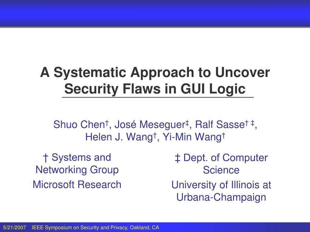 A Systematic Approach to Uncover