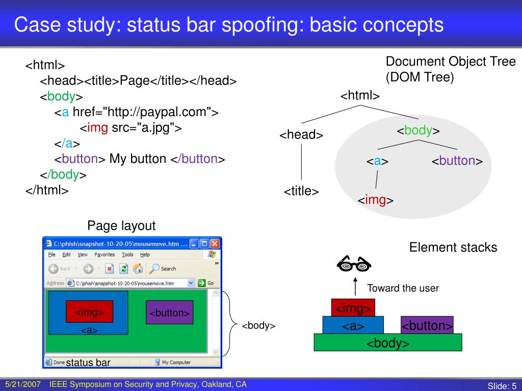 Case study: status bar spoofing: basic concepts