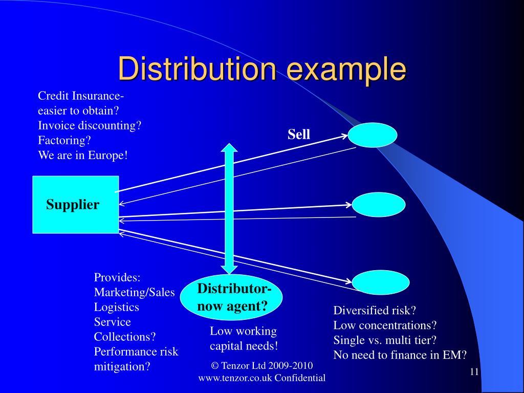 Distribution example