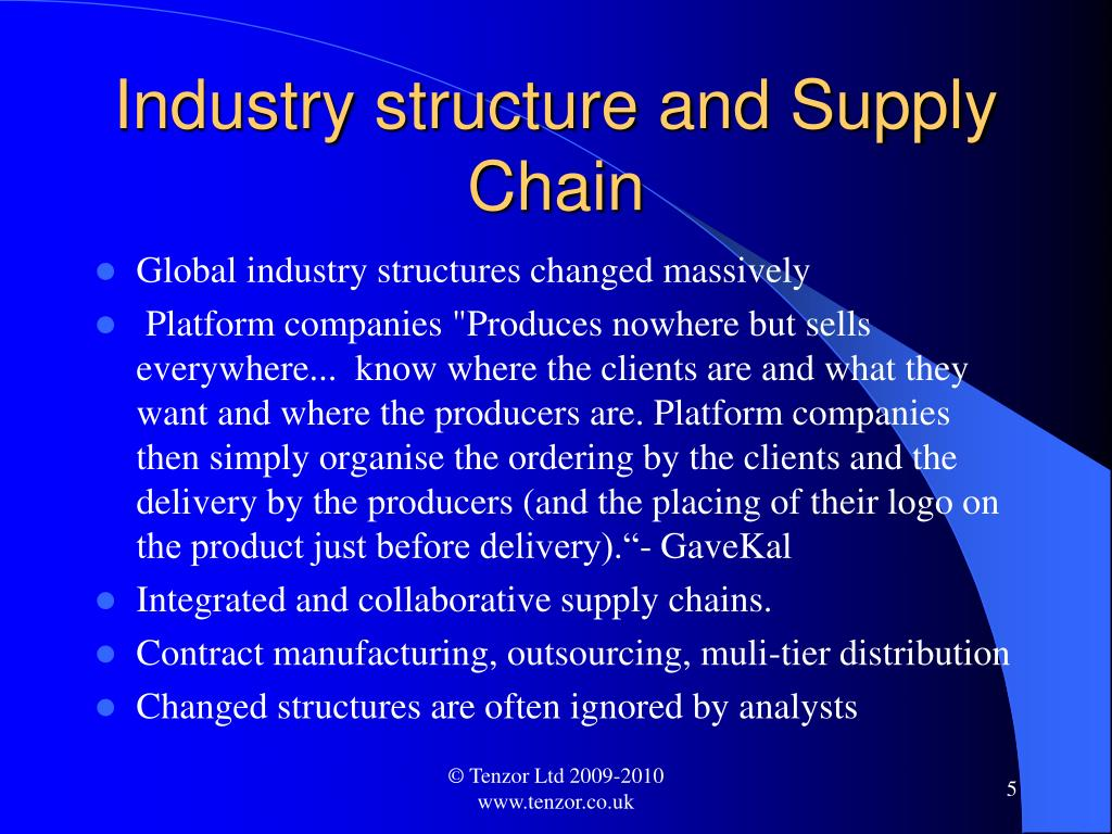 Industry structure and Supply Chain