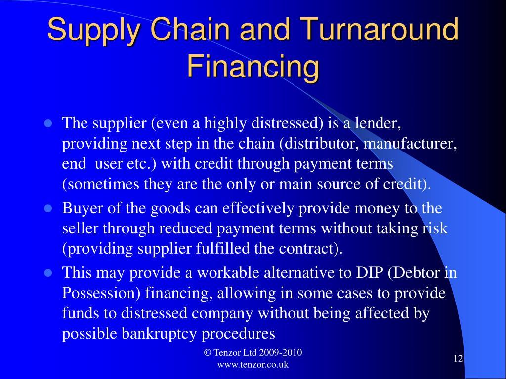 Supply Chain and Turnaround Financing