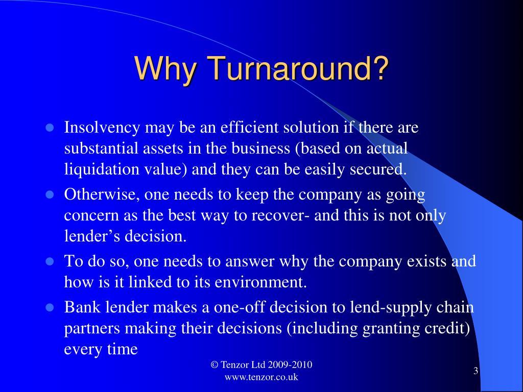 Why Turnaround?