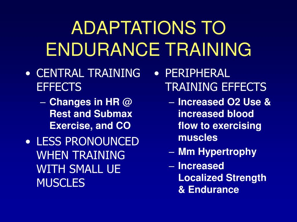 CENTRAL TRAINING  EFFECTS