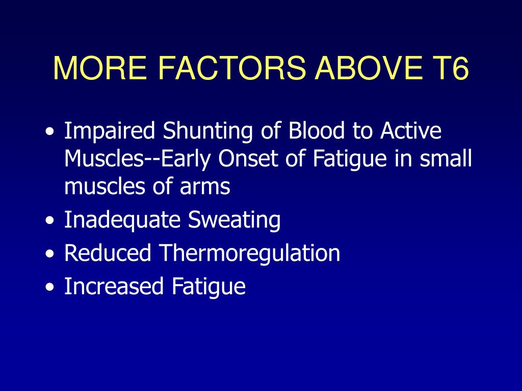 MORE FACTORS ABOVE T6