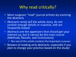 why read critically
