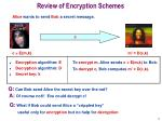 review of encryption schemes