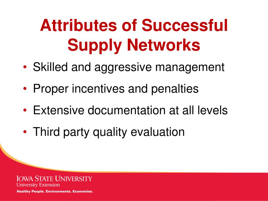 Attributes of Successful Supply Networks