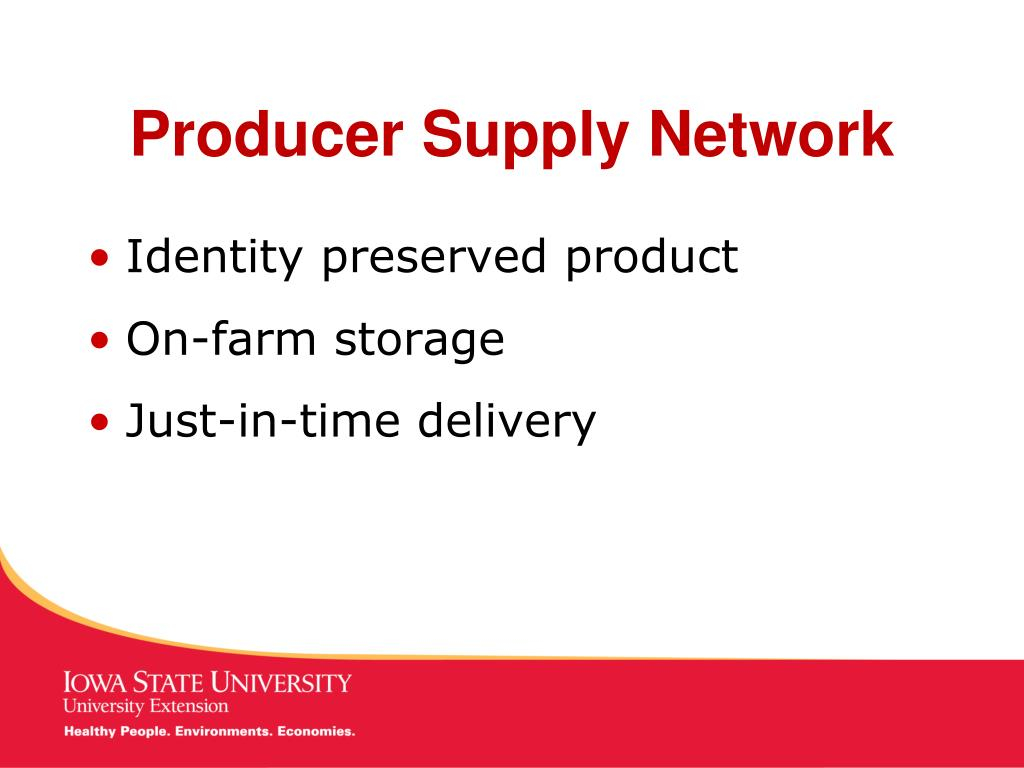 Producer Supply Network
