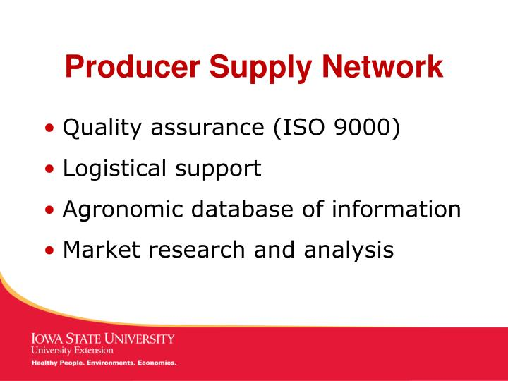 Producer supply network3