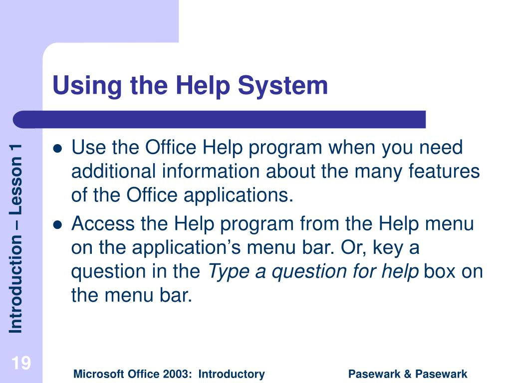 Using the Help System