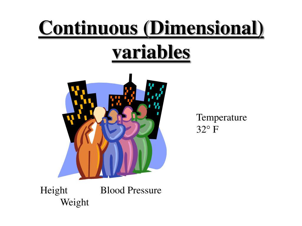 Continuous (Dimensional) variables