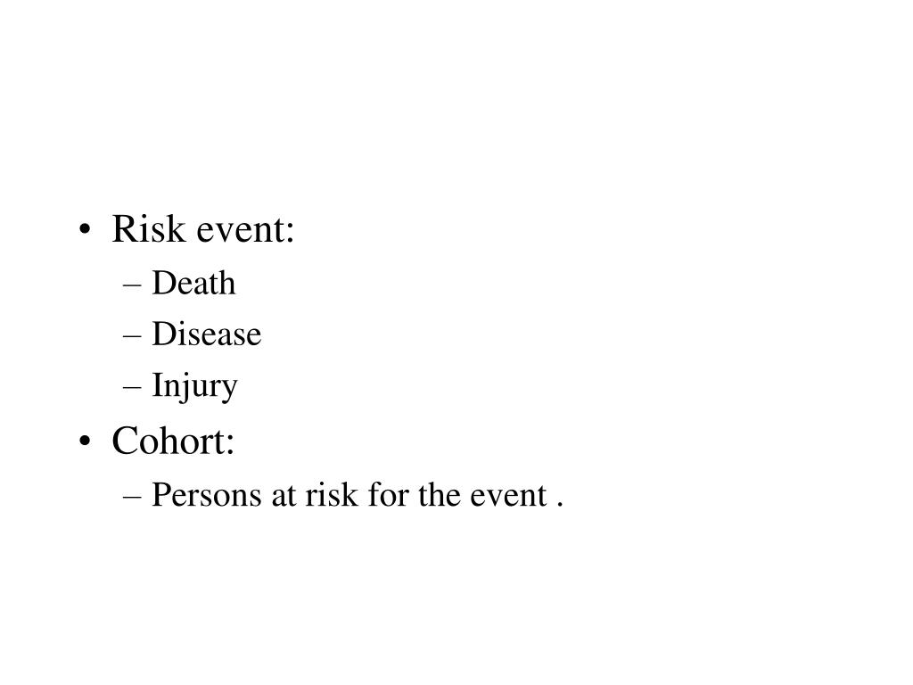 Risk event: