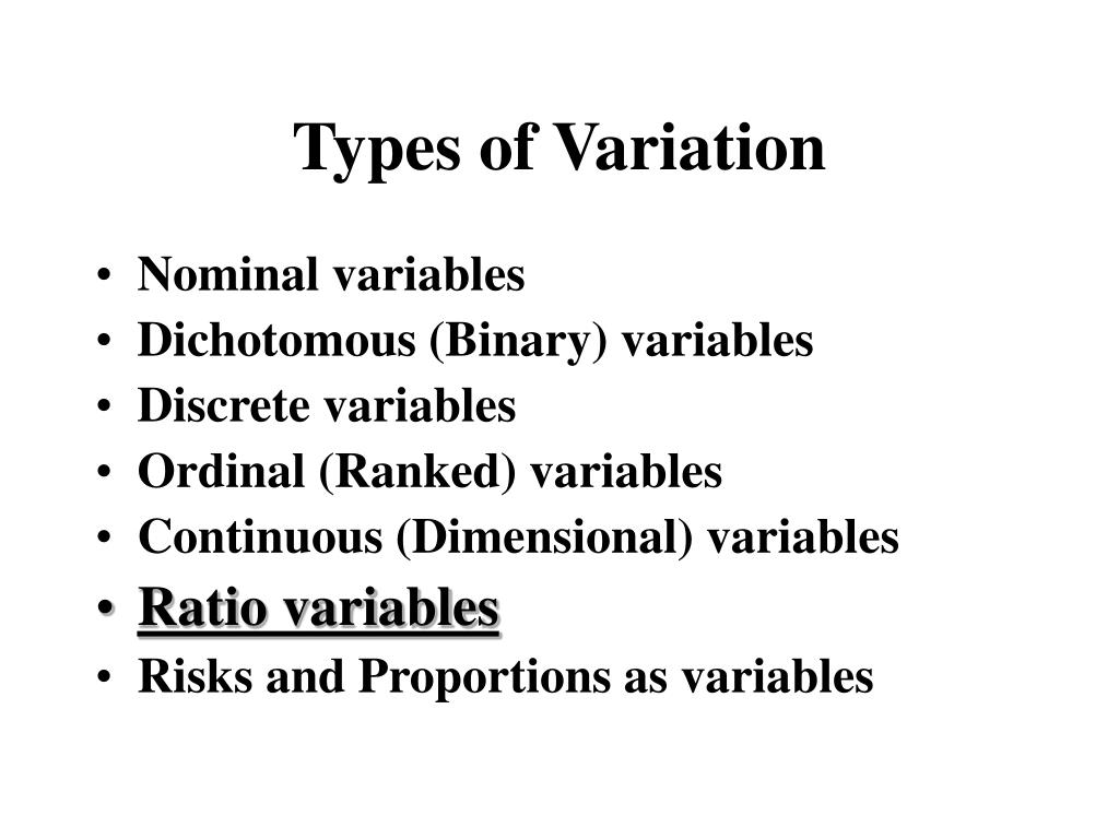 Types of Variation