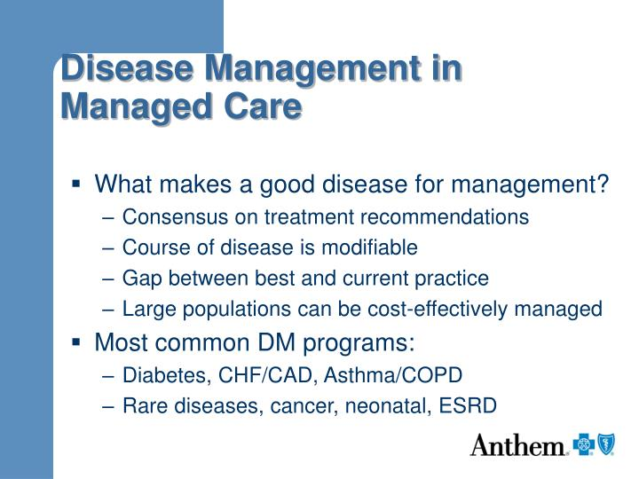 Disease management in managed care3