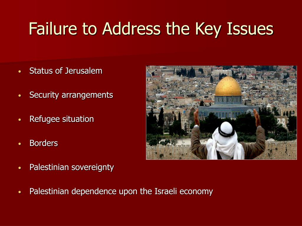 Failure to Address the Key Issues