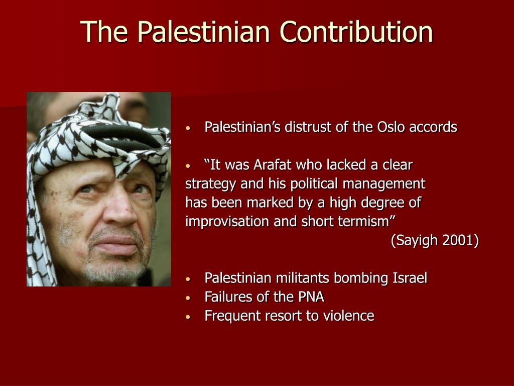 The Palestinian Contribution