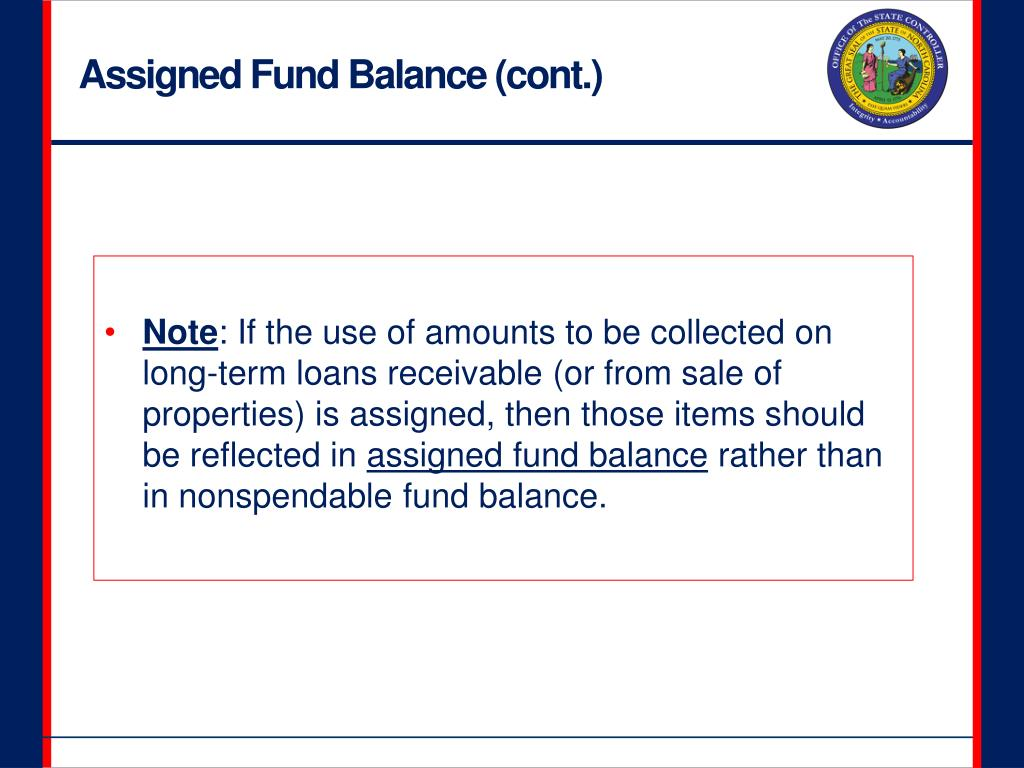 Assigned Fund Balance (cont.)