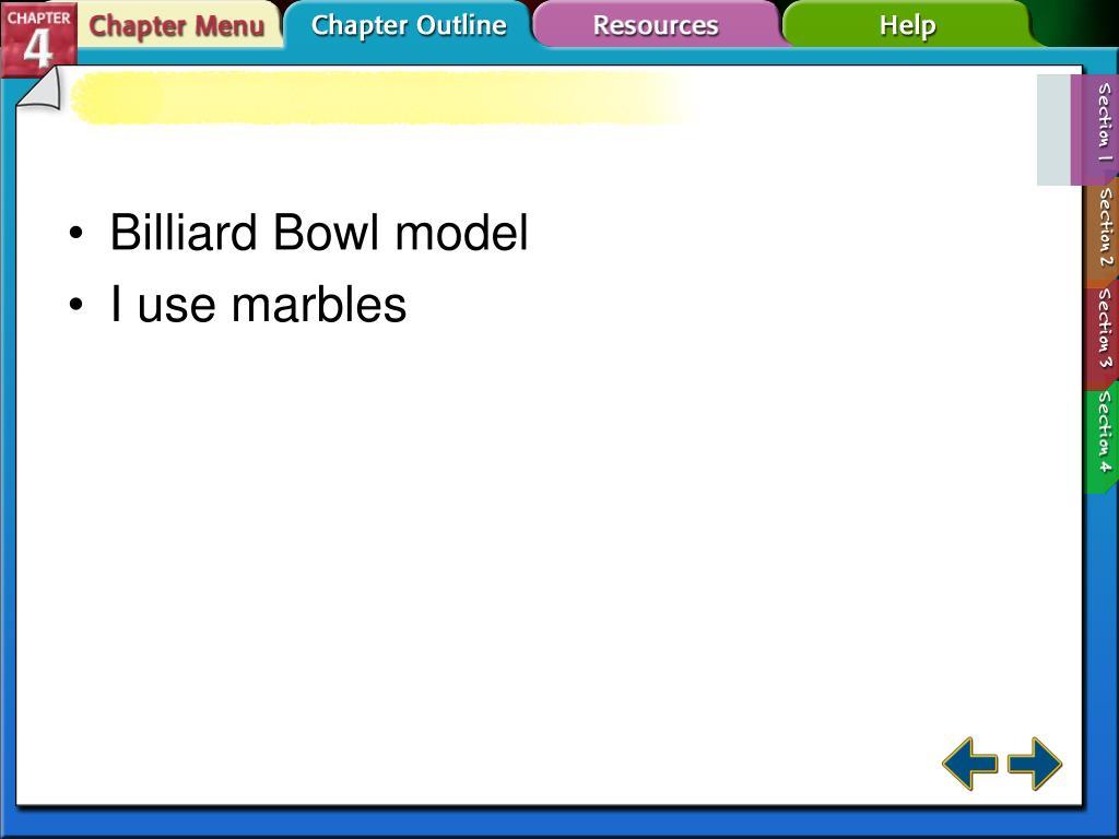 Billiard Bowl model