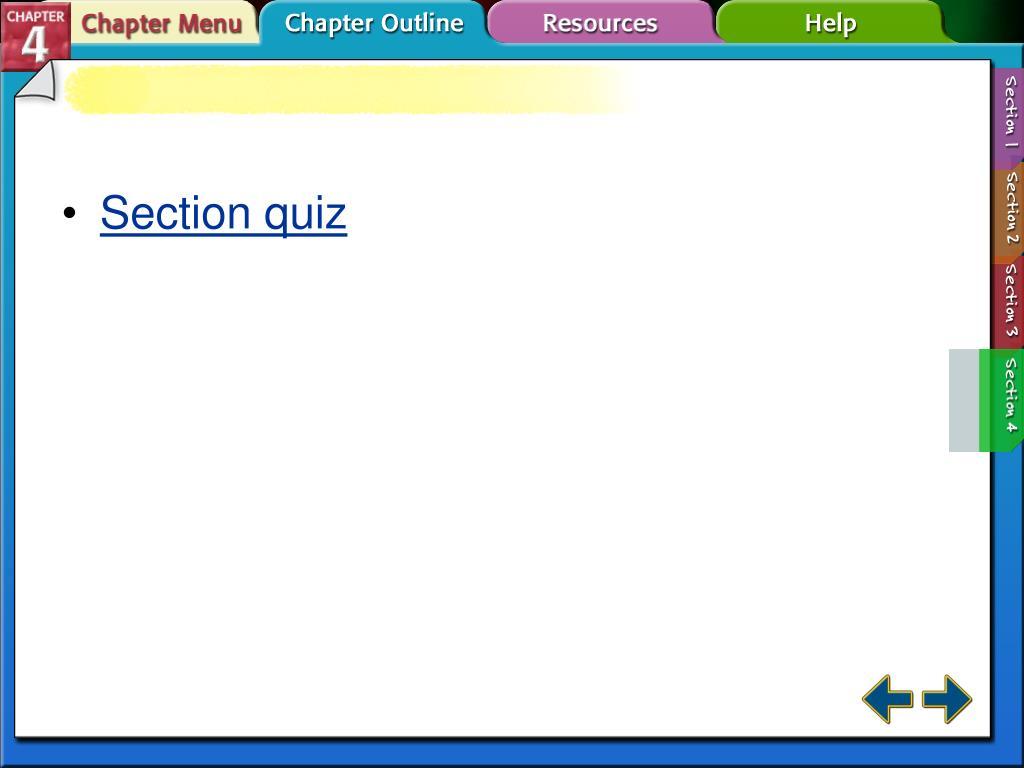 Section quiz