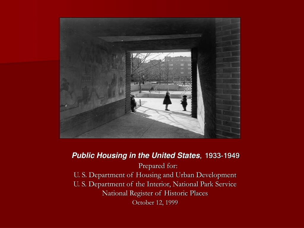 Public Housing in the United States