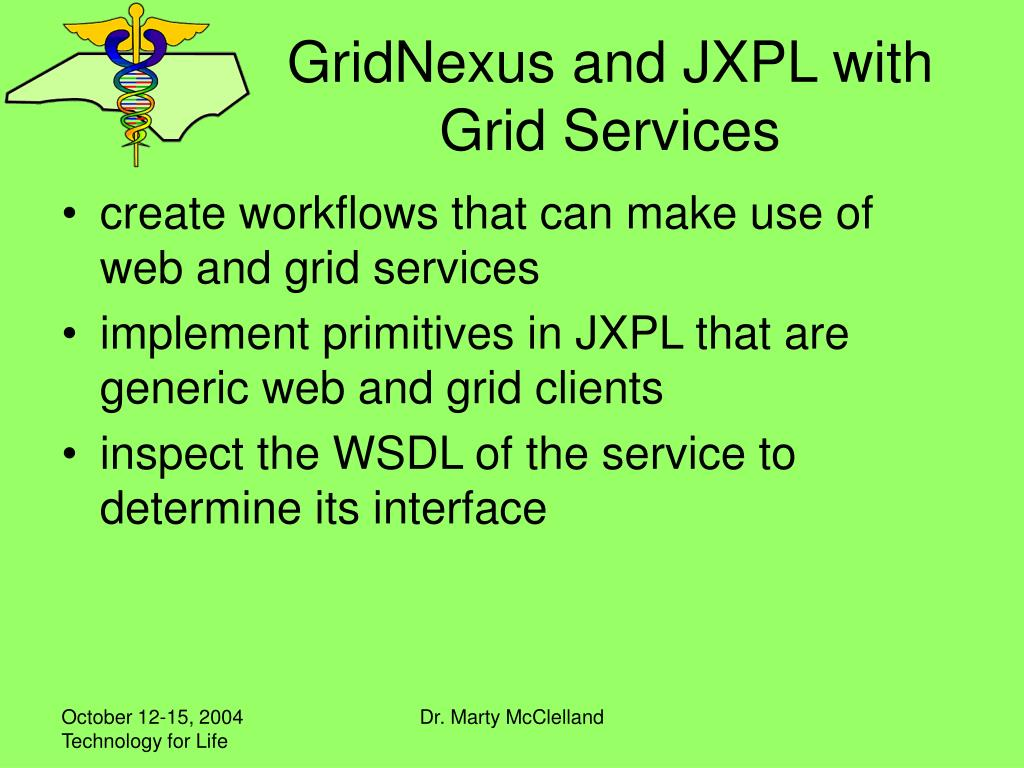 GridNexus and JXPL with Grid Services