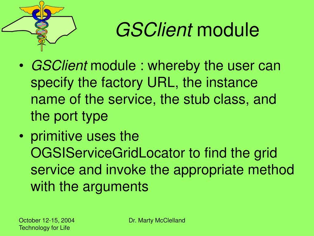 GSClient