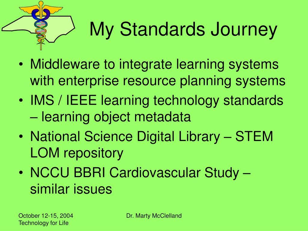 My Standards Journey