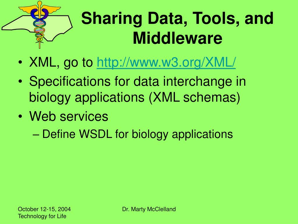 Sharing Data, Tools, and Middleware