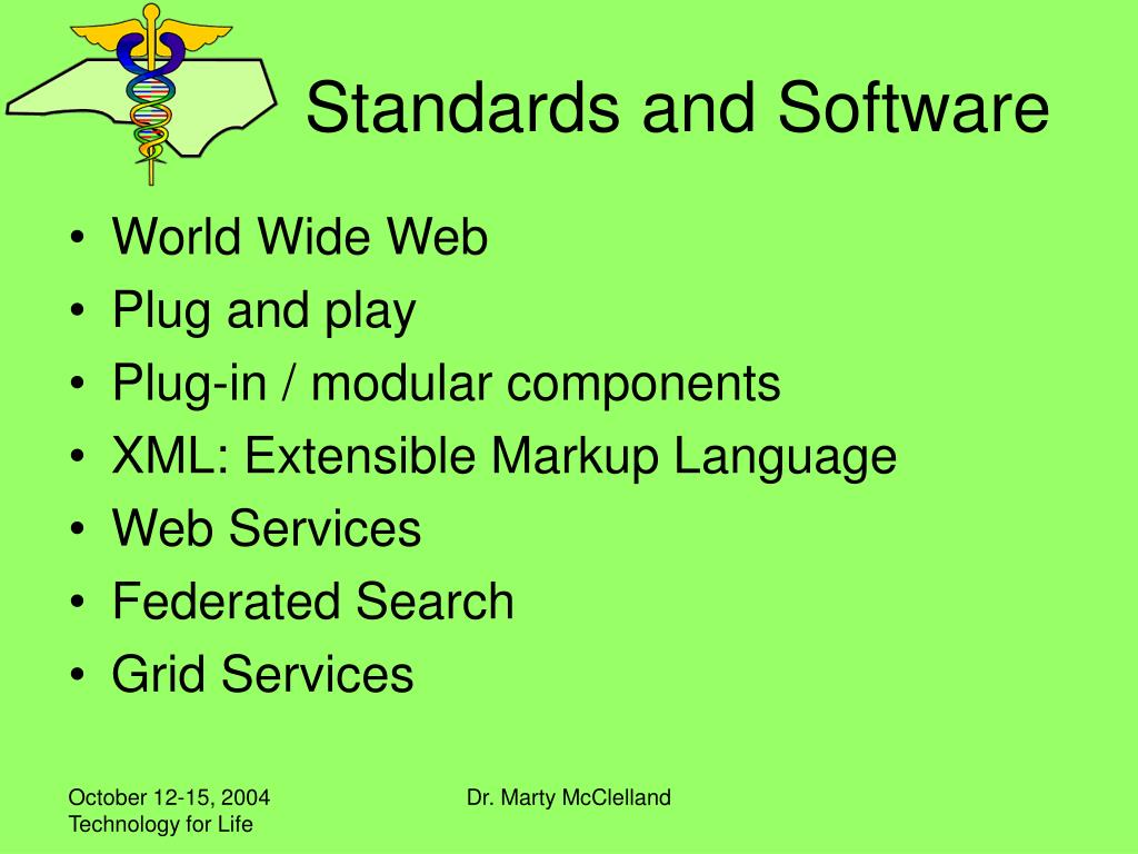 Standards and Software