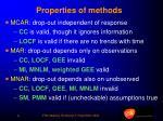 properties of methods