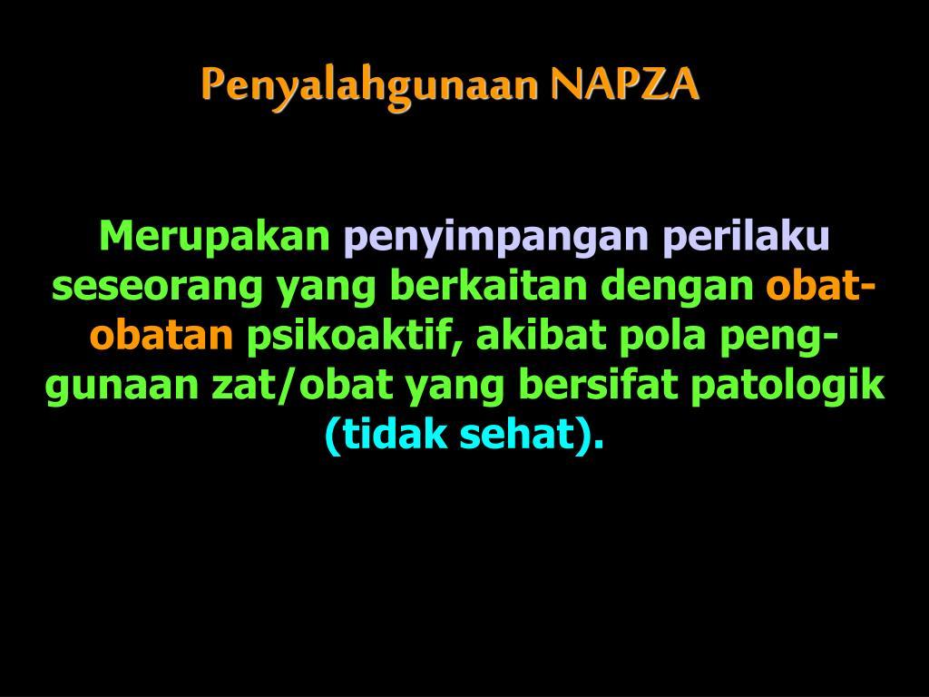 Penyalahgunaan NAPZA