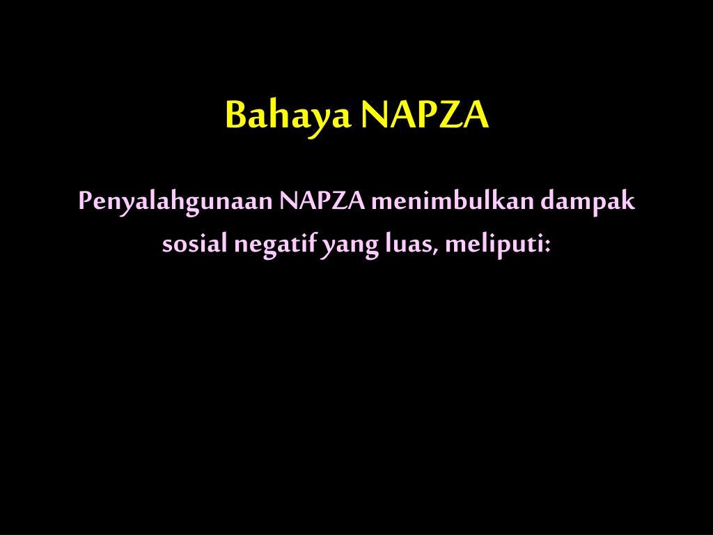 Bahaya NAPZA
