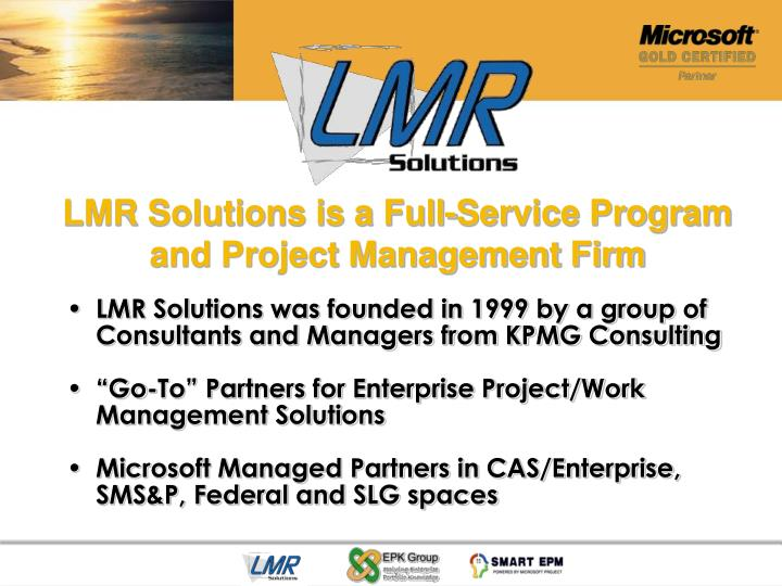 LMR Solutions is a Full-Service Program