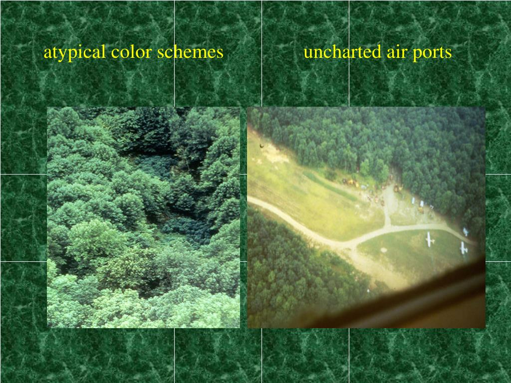 atypical color schemes                uncharted air ports