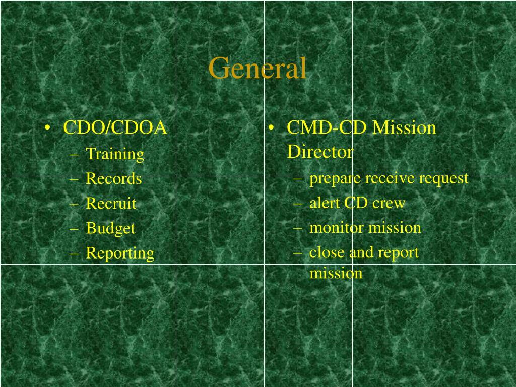 CDO/CDOA