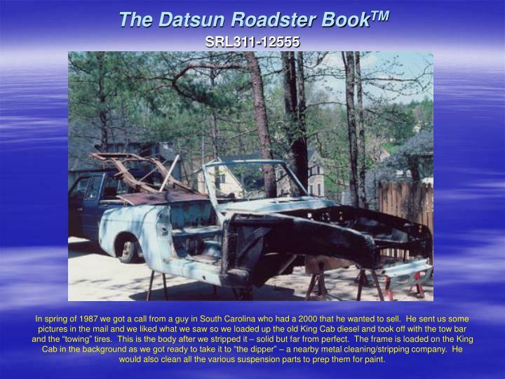 The datsun roadster book tm2