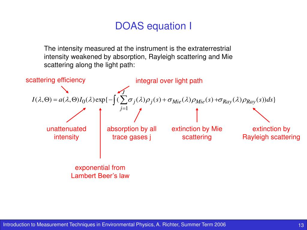 DOAS equation I