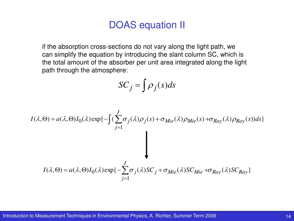 DOAS equation II