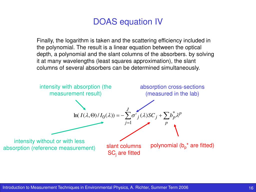 DOAS equation IV