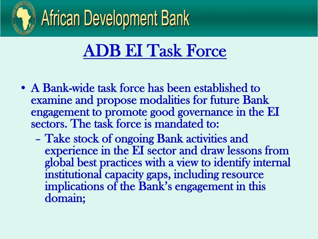 ADB EI Task Force