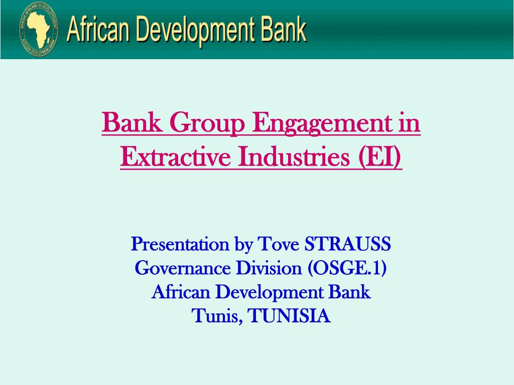 Bank Group Engagement in