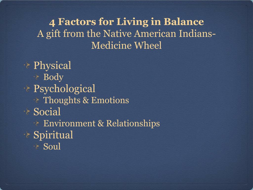 4 Factors for Living in Balance