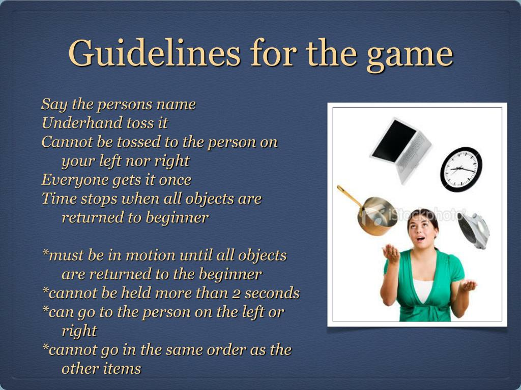 Guidelines for the game
