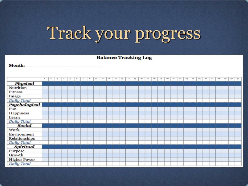 Track your progress