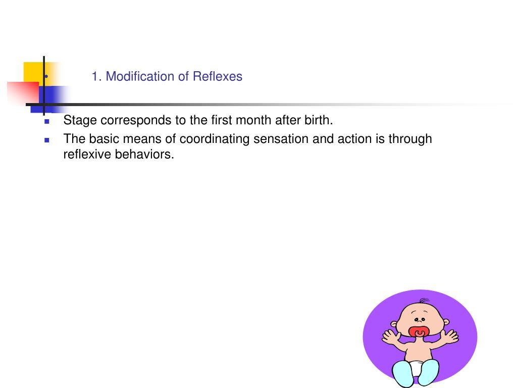 1. Modification of Reflexes